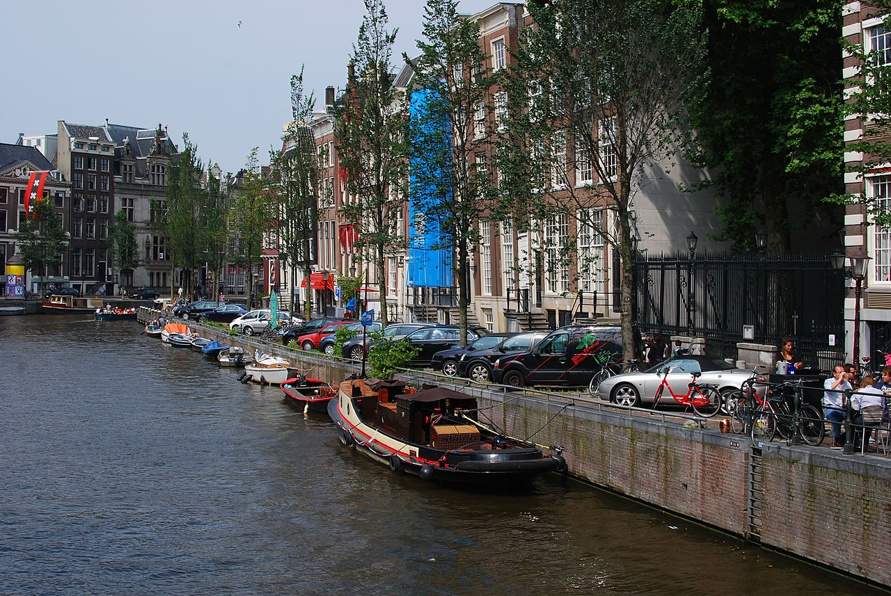 Street and channel of Amsterdam
