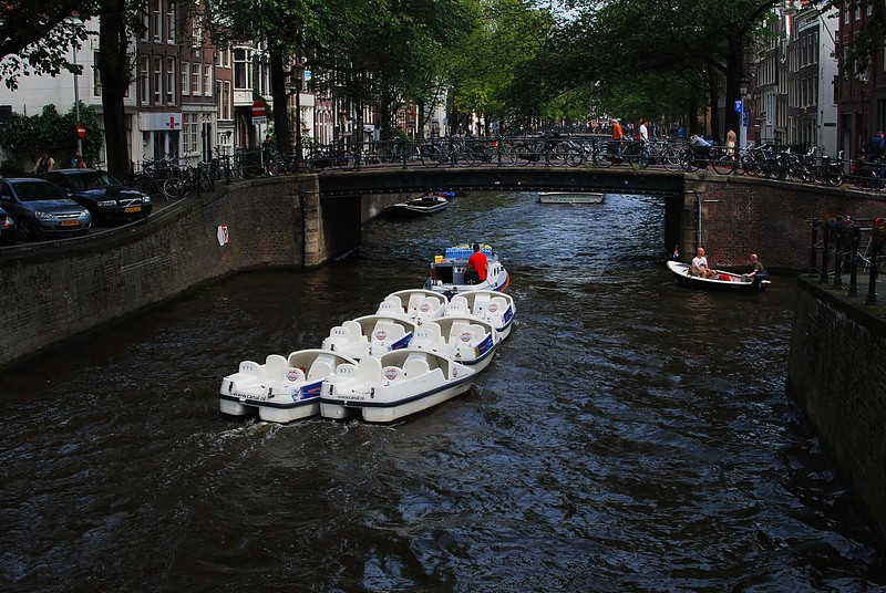 Boats at Amsterdam