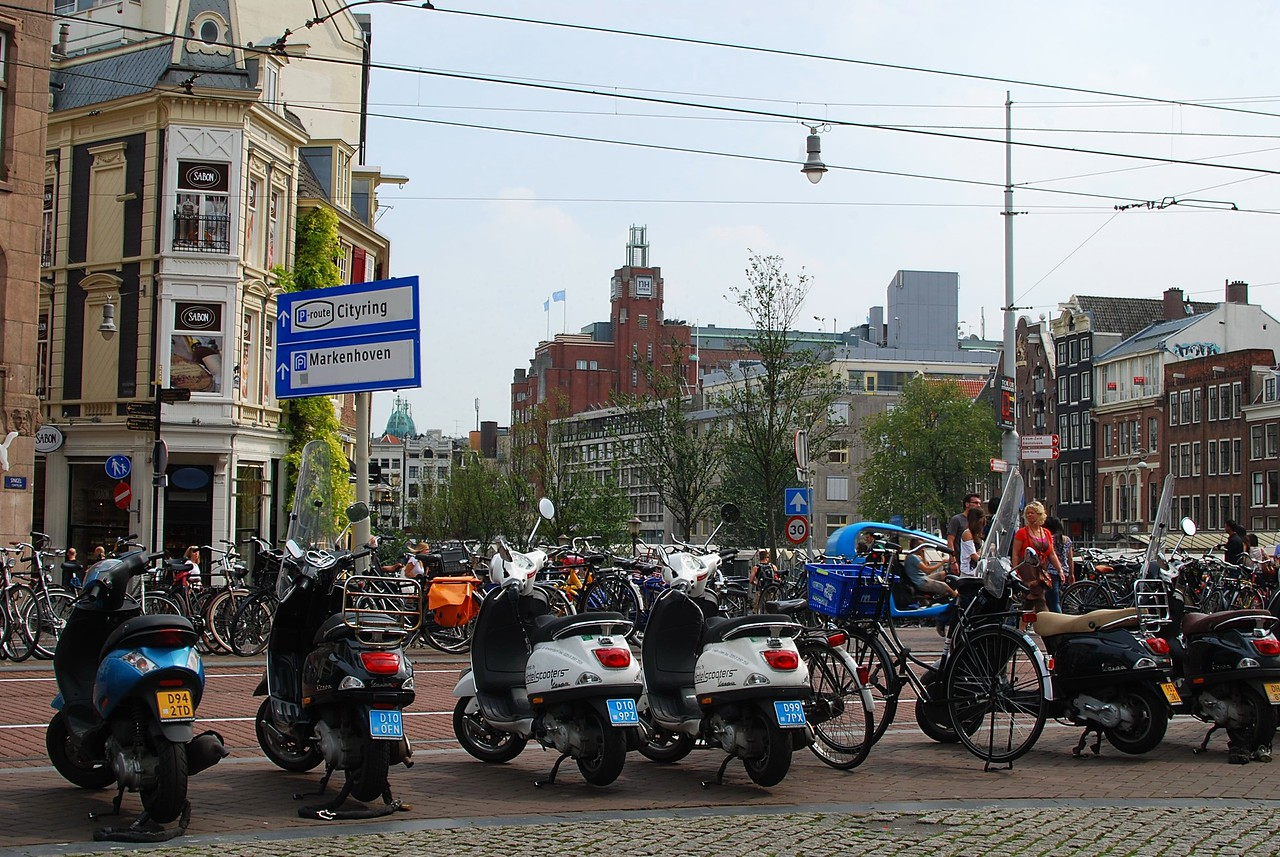 Bikes and scooters in Amsterdam