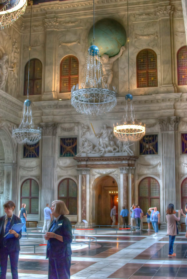 Inside Royal Palace in Amsterdam