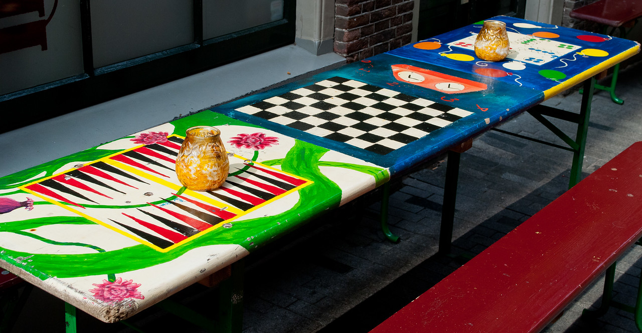 Table for tabletop games in Amsterdam