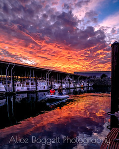 Floating In Fire, Anacortes, WA