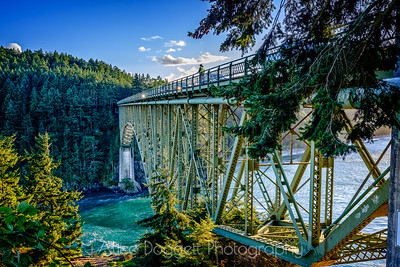 Deception Pass Bridge, Whidbey Island, WA, Looking West