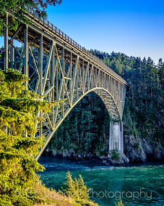 Deception Pass Bridge, Whidbey Island, WA, Looking East