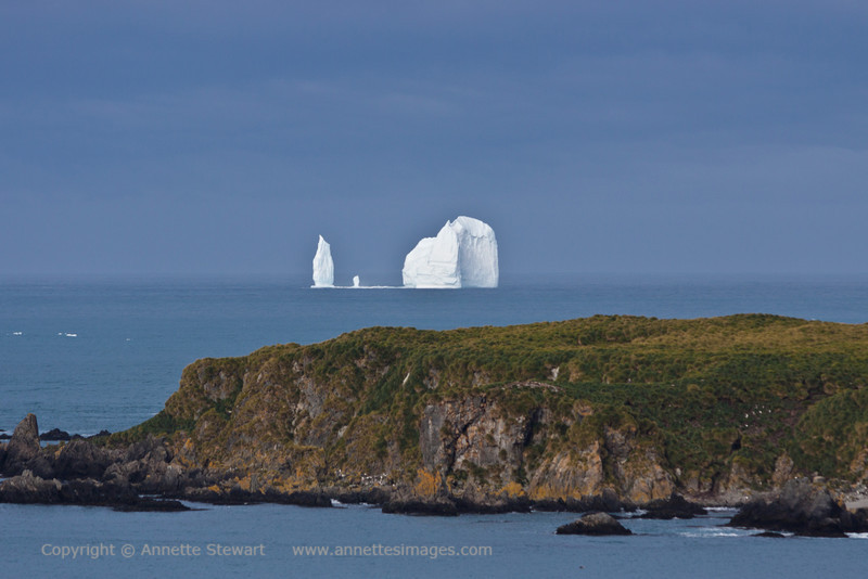 Iceberg<br /> One mass of ice, fractured above, solid below