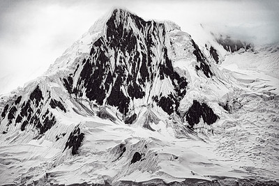 Antarctic Mountain B&W Copyright 2020 Steve Leimberg UnSeenImages Com _DSC8968