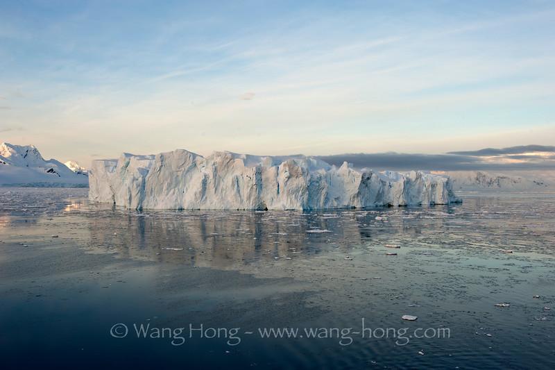 Antarctica - early morning iceberg