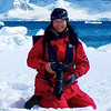 The photographer (Wang Hong) on Antarctica Peninsular (2011), by Dr. Marcus Schuetz.