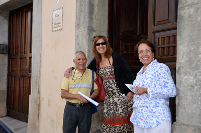 Dr. Ovalle (Chiqui's and Luky's dentist) in front of his office and B&B