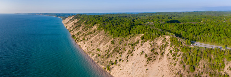 Arcadia Overlook and Lake Michigan Panorama