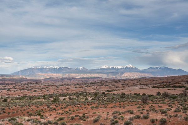 View of the La Sal Mountains