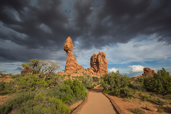 Balanced Rock (with Rain Showers)