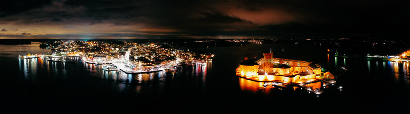 Vaxholm by night