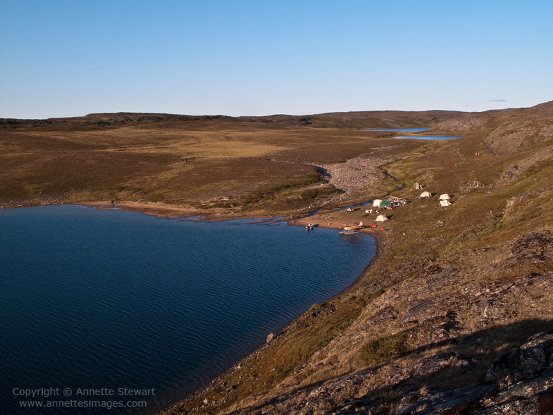 Campsite, east end of Baker Lake