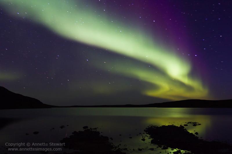 Aurora Borealis, east end of Baker Lake