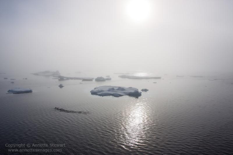 Sea fog and ice