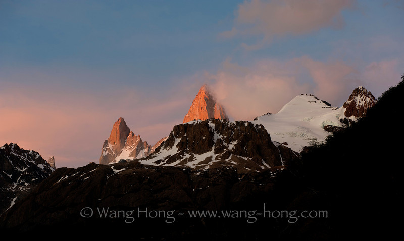 Mt. Fitzroy at sunrise.