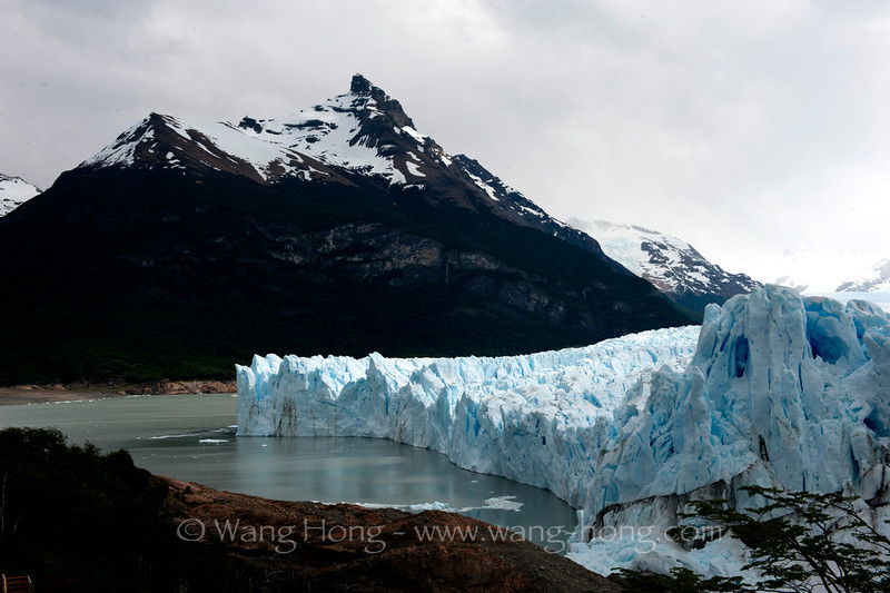 The Perito Moreno Glacier, located in the Los Glaciares National Park in Argentina, named after the explorer Francisco Moreno.