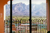 View of the Santa Catalina Mountains from a guest room at the Westin La Paloma hotel in Tucson, AZ.