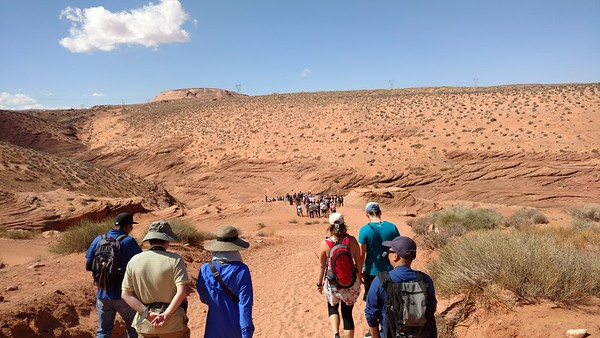 Walking to the Lower Antelope Canyon Entrance