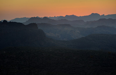 Dusk in Superstition Mountains, Arizona