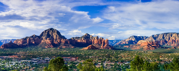 Sedona Arizona as viewed from Airport road