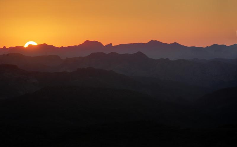 Sunset, Superstition Mountains, Arizona