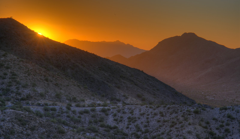 Sunset, South Mountain, Phoenix