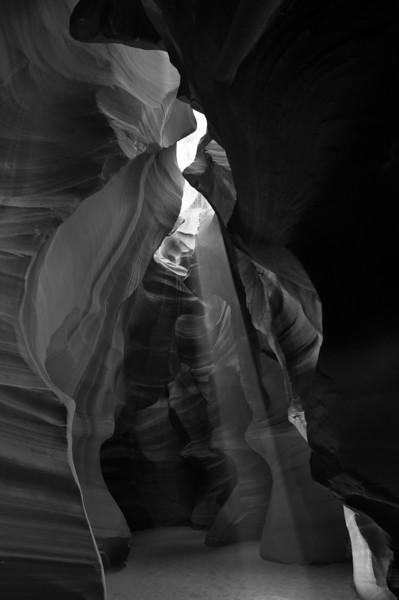 Piercing Light<br /> Upper Antelope Canyon, Navajo Tribal Park, Arizona<br /> 2010