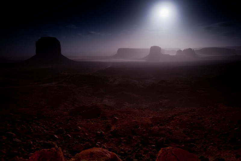 Full-Moon Sandstorm<br /> Monument Valley, Arizona<br /> 2010