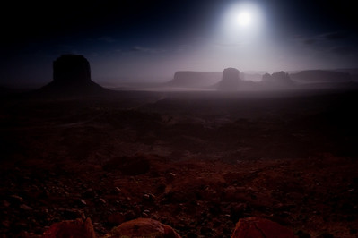 Full-Moon Sandstorm Monument Valley, Arizona 2010