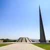 The Armenian Genocide memorial complex on the hill of Tsitsernakaberd in Yerevan, Armenia