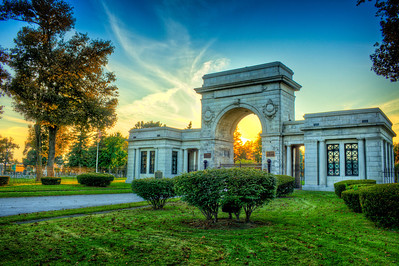 Entrance to the Forest Lawn Cemetery from Main St. in Buffalo.