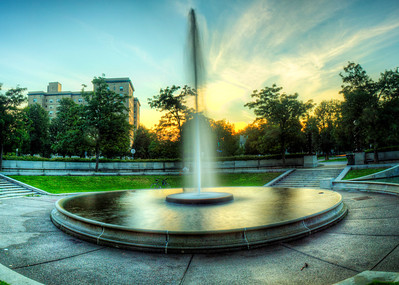 Fountain at Gates Circle on Delaware Ave, Buffalo, NY