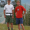 Tony and Allan on the slopes of Aspen ski area.