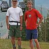 Tony and Allan on the slopes of Aspen ski area.