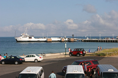 Car ferry at the Steamship Authority Dock, Oak Bluffs.