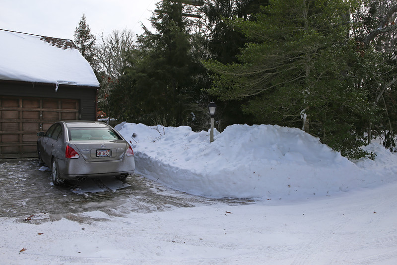 Aftermath of a blizzard on Monday, January 26th.
