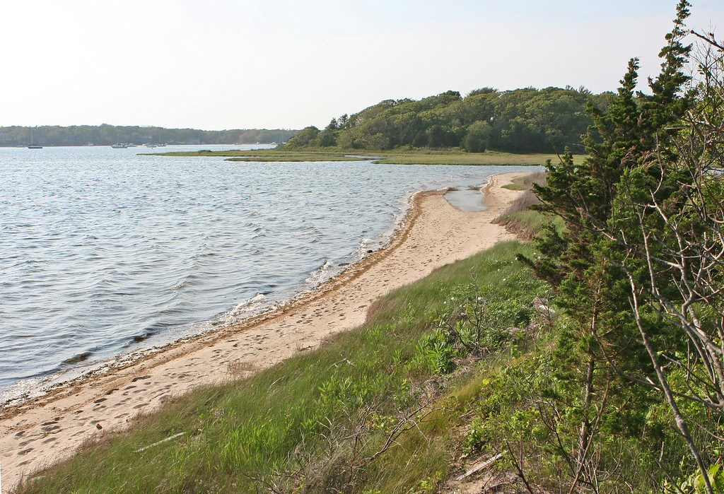 2012-05-29, looking north to the head of Waquoit Bay.