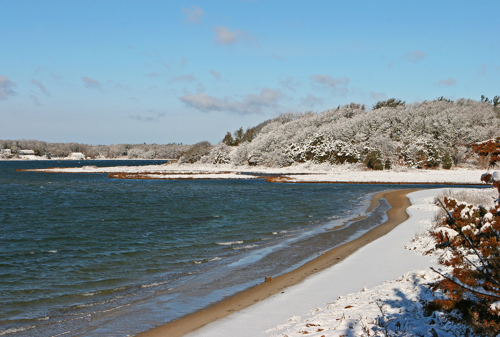 2012-12-30, looking north to the head of Waquoit Bay after a short winter storm.