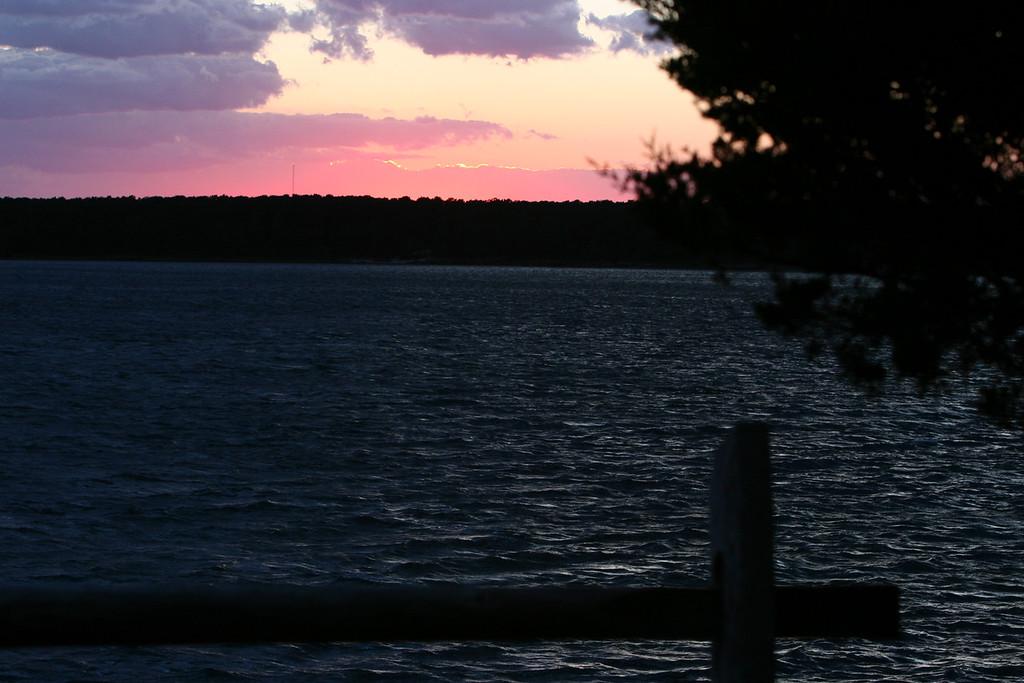 2006-10-14: sunset looking west toward Washburn's Island.