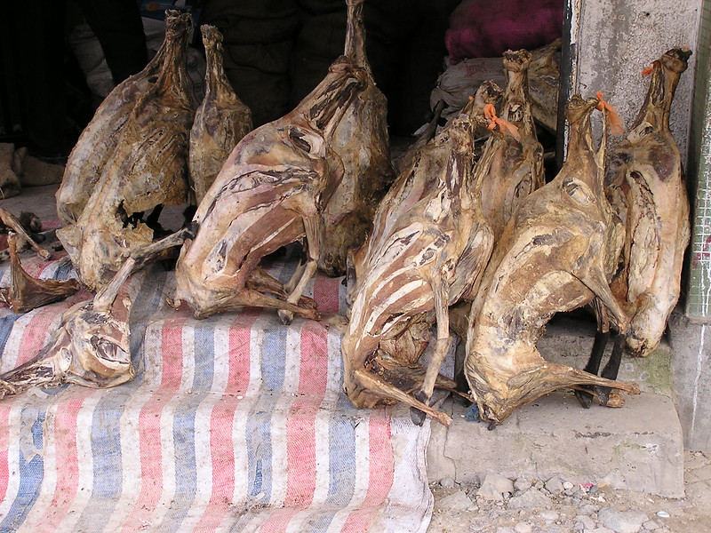 133 Dried carcasses