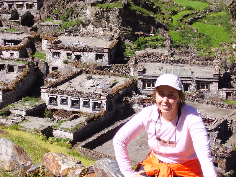 Kary at the end of the Trek above Sensun Village