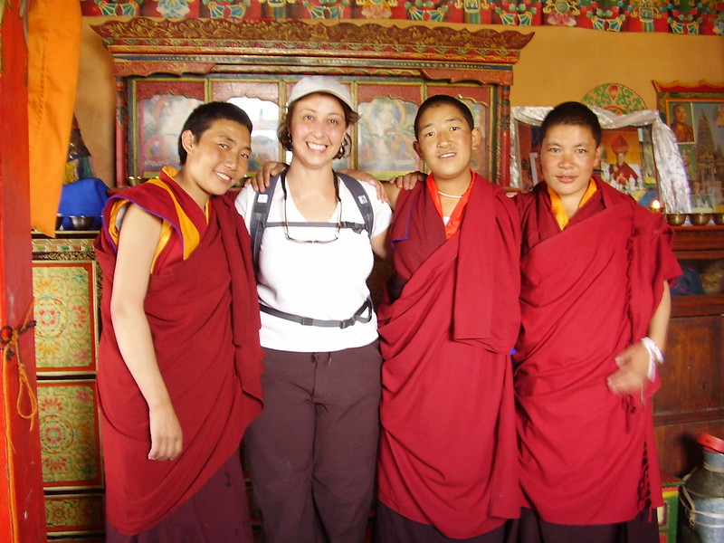 Kary with her Tibetan Nun Friends