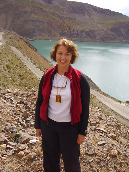 kary in Front of Tibetan lake 2