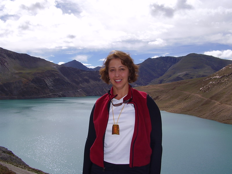 Kary in Front of Tibetan lake