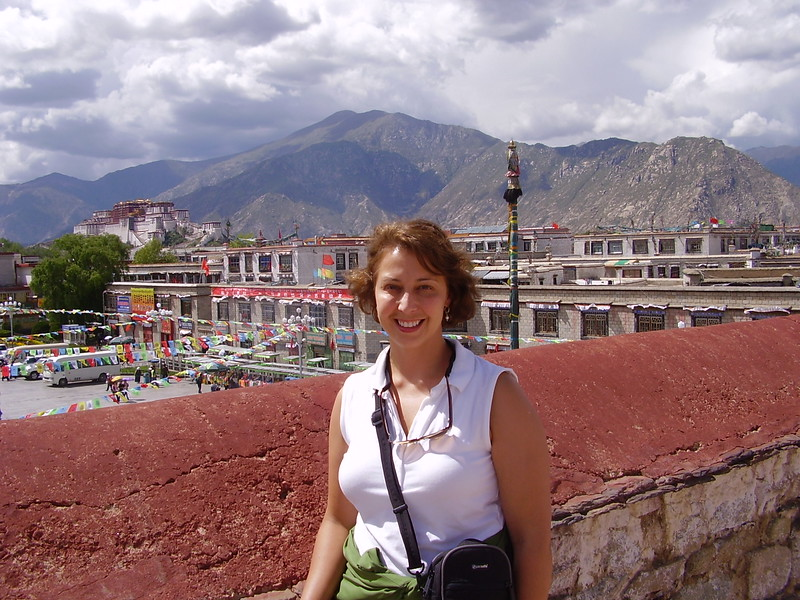 Kary at the Johkar in Tibet