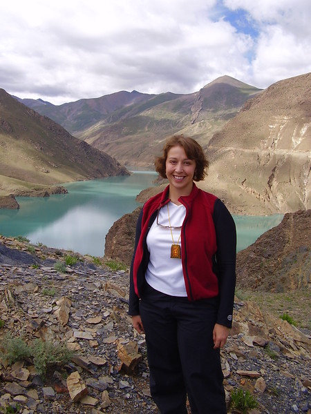 Kary at the Sacred Lakes in Tibet