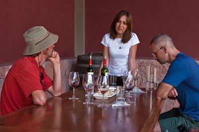 Wine tasting at Vina Von Siebenthal in the Aconcagua Valley. See:http://www.vinavonsiebenthal.com/en/