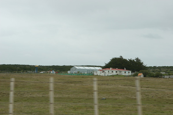 Driving away from the air field in Punta Arenas.<br /> -52.99210391888707, -70.81806217958788